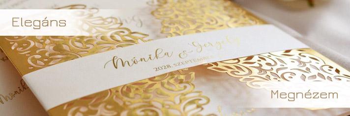 2e6e1ce8fa Esküvői meghívó. luxus ujdosagok elegans szuper ar