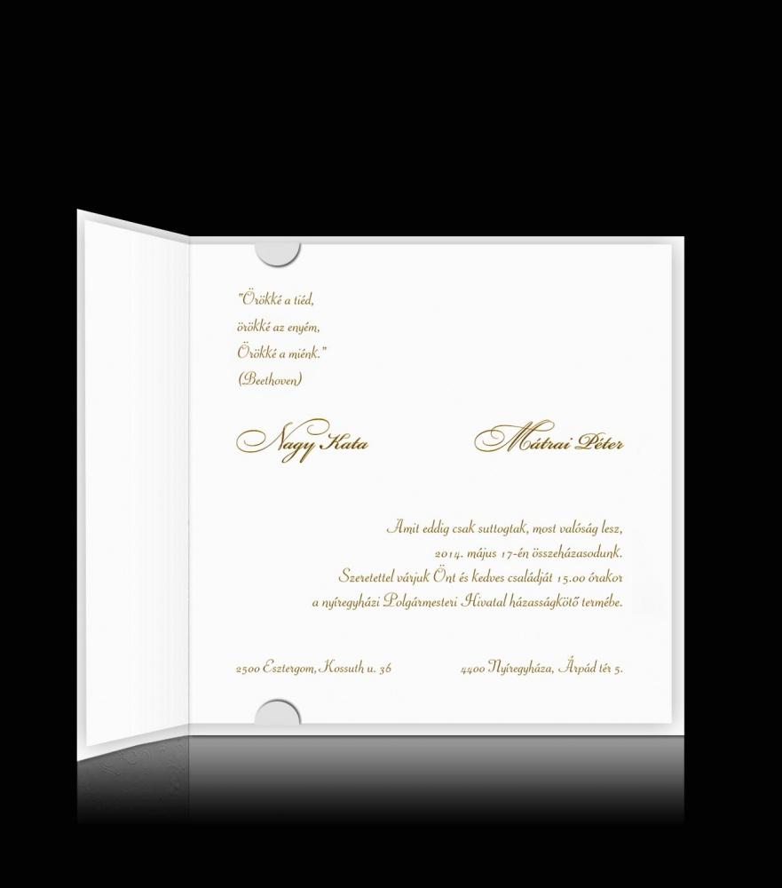 731e9c9752 Esküvői meghívó C 0305 - Elegáns esküvői meghívó   Pamas