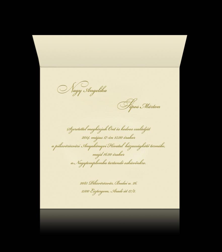 f5f6120438 Esküvői meghívó C 0702 - Luxus esküvői meghívó   Pamas